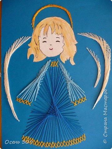 Детям нравится вышивать ангелочков. Эта работа Маши 7 лет. фото 1