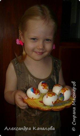 В субботу, пока варились яички и детки их украшали, доделала подставочку, которую начала делать в прошлом году. фото 1