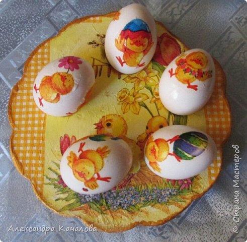 В субботу, пока варились яички и детки их украшали, доделала подставочку, которую начала делать в прошлом году. фото 2