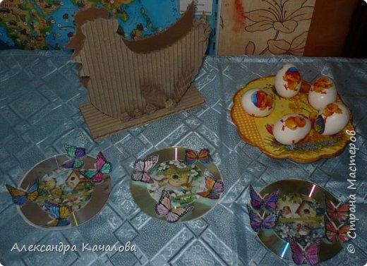 В субботу, пока варились яички и детки их украшали, доделала подставочку, которую начала делать в прошлом году. фото 6