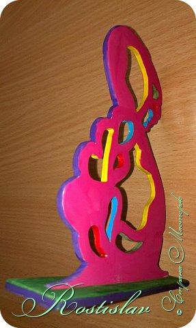 Вот что мы на уроке труда в школе изготовляем Все сделал сам  8 - с одной стороны покрасил ярко розовой краской фото 2
