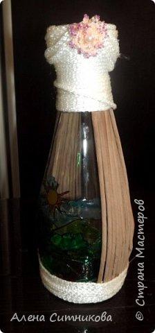 Ваза декорированная бельевым жгутом фото 1