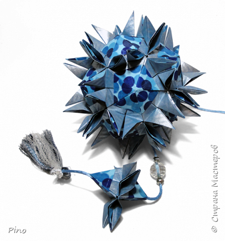 Name: Gardenia Designer: Natalia Romanenko МК - http://kusudama.info/2013/08/gardenia-tutorial/ фото 4