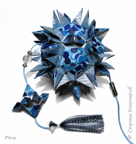 Name: Gardenia Designer: Natalia Romanenko МК - http://kusudama.info/2013/08/gardenia-tutorial/ фото 3