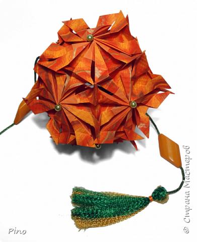 Name: Gardenia Designer: Natalia Romanenko МК - http://kusudama.info/2013/08/gardenia-tutorial/ фото 6