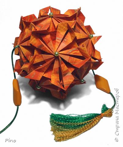 Name: Gardenia Designer: Natalia Romanenko МК - http://kusudama.info/2013/08/gardenia-tutorial/ фото 5
