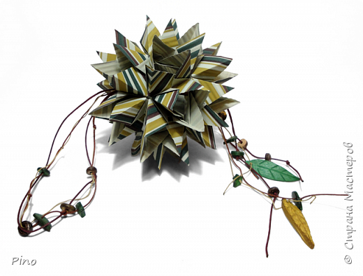 Name: Gardenia Designer: Natalia Romanenko МК - http://kusudama.info/2013/08/gardenia-tutorial/ фото 2