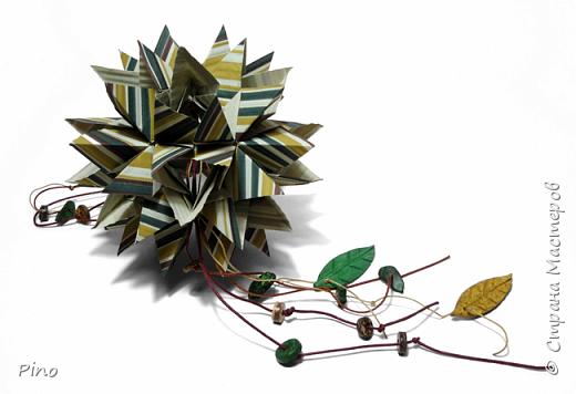 Name: Gardenia Designer: Natalia Romanenko МК - http://kusudama.info/2013/08/gardenia-tutorial/ фото 1