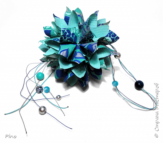 Name: Gardenia Designer: Natalia Romanenko МК - http://kusudama.info/2013/08/gardenia-tutorial/ фото 7