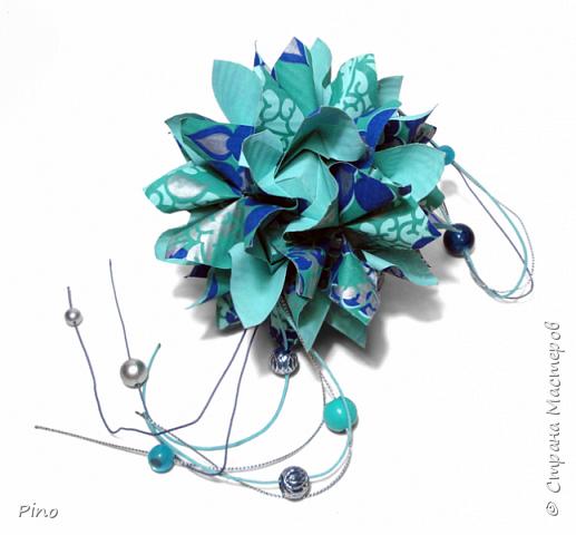 Name: Gardenia Designer: Natalia Romanenko МК - http://kusudama.info/2013/08/gardenia-tutorial/ фото 8
