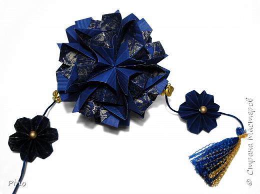 Name: Gardenia Designer: Natalia Romanenko МК - http://kusudama.info/2013/08/gardenia-tutorial/ фото 11