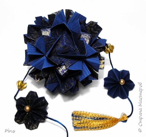 Name: Gardenia Designer: Natalia Romanenko МК - http://kusudama.info/2013/08/gardenia-tutorial/ фото 9