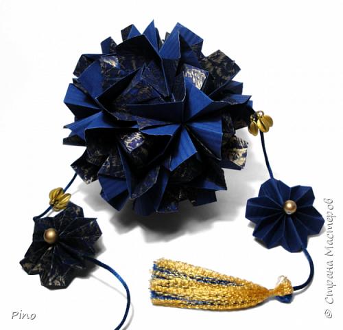 Name: Gardenia Designer: Natalia Romanenko МК - http://kusudama.info/2013/08/gardenia-tutorial/ фото 10