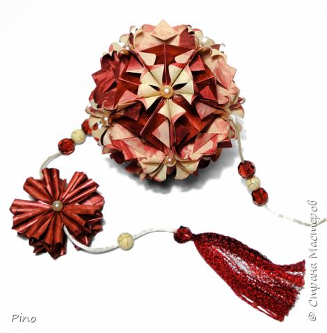 Name: Gardenia Designer: Natalia Romanenko МК - http://kusudama.info/2013/08/gardenia-tutorial/ фото 13
