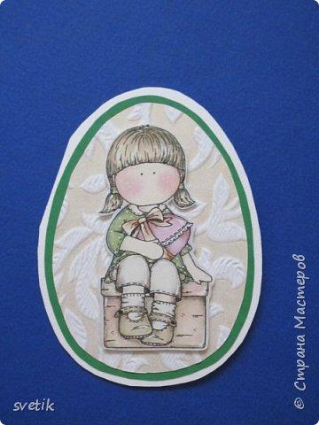 """Не """"отпускают"""" меня открытки- шейкеры)) На днях сделала пасхальные открытки для подружек дочки фото 6"""