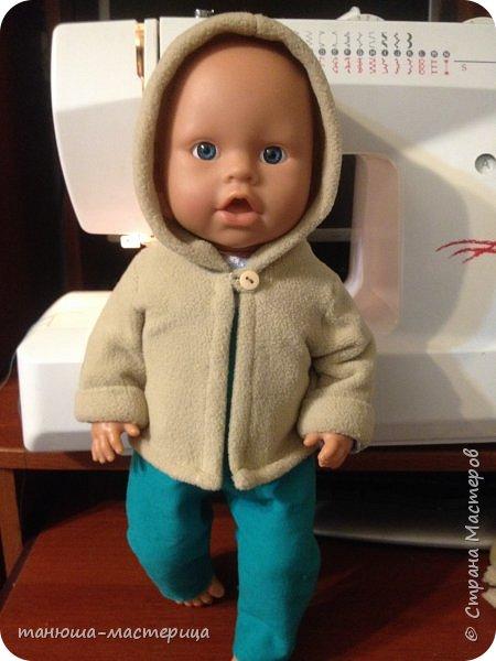 И очередная домашняя работа для детского сада, сшить одежду для пупса и  вот результат кропотливой работы фото 1