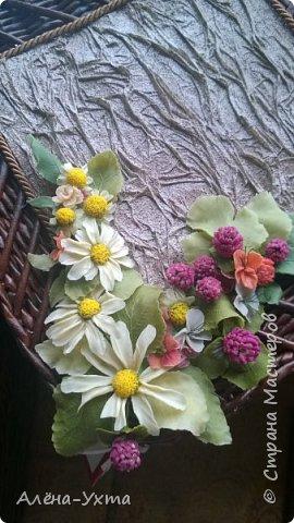 Люблю полевые цветы... Ромашки, клевер, васильки. В этой композиции обошлась без васильков, потому что... не получились у меня они. Капризные))) фото 6