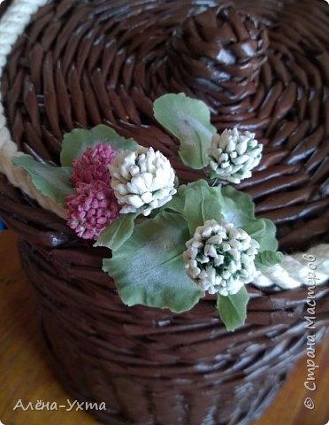 Люблю полевые цветы... Ромашки, клевер, васильки. В этой композиции обошлась без васильков, потому что... не получились у меня они. Капризные))) фото 5