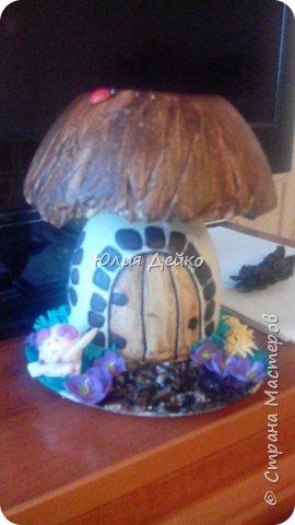Мой первый грибочек из гипса. фото 1