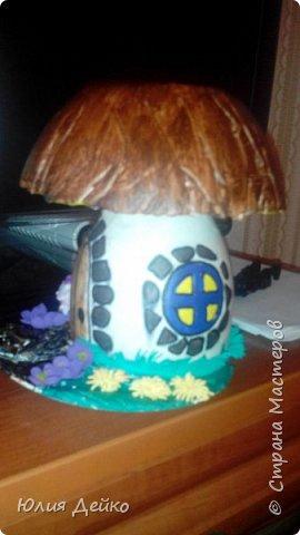 Мой первый грибочек из гипса. фото 2
