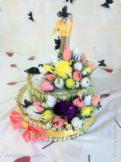 Мой первый тортик в стиле свит дизайна))) фото 2