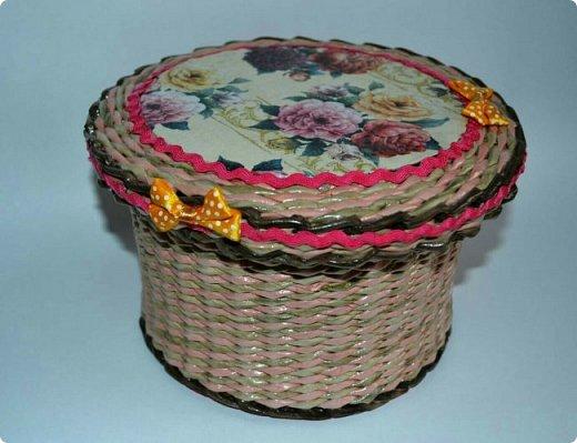 Добрый день ,жители СМ! Сегодня хочу показать вам свои успехи плетении из бумажной лозы! Вот такая шкатулка сплелась у меня! фото 1
