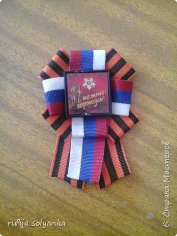 Здравствуйте! Хочу показать свои брошки к Дню Победы. Колосок на этой брошке символизирует флаг Республики Татарстан в котором я живу.  фото 5