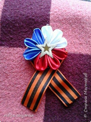 Здравствуйте! Хочу показать свои брошки к Дню Победы. Колосок на этой брошке символизирует флаг Республики Татарстан в котором я живу.  фото 9