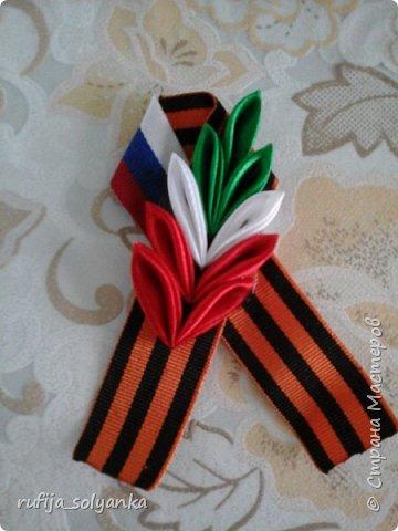Здравствуйте! Хочу показать свои брошки к Дню Победы. Колосок на этой брошке символизирует флаг Республики Татарстан в котором я живу.  фото 1