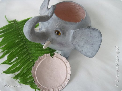 Улыбка красит лицо человека, но и... слона. Принимайте мою новую работу - слон-конфетница. Или слон-копилка. фото 9