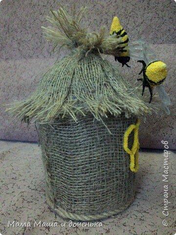 Доброго времени всем жителям. Мы с моей дочкой живем в славном городе Тамбове, и на гербе нашего городе изображен улей с пчелами.  Вот и попросила меня подруга сделать какую нибудь подделку в детский сад с символикой нашего города. фото 9