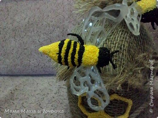 Доброго времени всем жителям. Мы с моей дочкой живем в славном городе Тамбове, и на гербе нашего городе изображен улей с пчелами.  Вот и попросила меня подруга сделать какую нибудь подделку в детский сад с символикой нашего города. фото 11