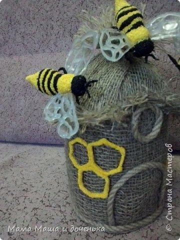 Доброго времени всем жителям. Мы с моей дочкой живем в славном городе Тамбове, и на гербе нашего городе изображен улей с пчелами.  Вот и попросила меня подруга сделать какую нибудь подделку в детский сад с символикой нашего города. фото 12