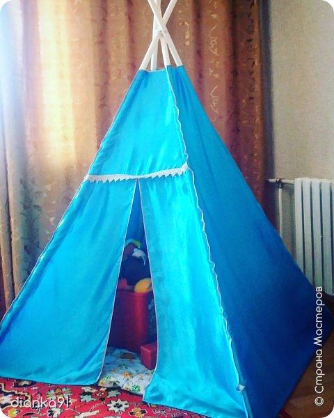 Вигвам для детей ) внутри можно не только играть но и прятать игрушки когда они не нужны  фото 2