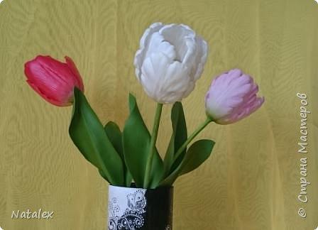 Добрый день всем жителям и гостям Страны! Хочу выразить свою благодарность Антонине Мельниченко за ее прекрасный вебинар по лепке тюльпана. И соответственно показать как я усвоила урок. фото 8