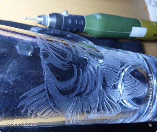 Всем привет! Вот решил снова поделиться с Вами приемами гравировки стекла. Много фото.  фото 9