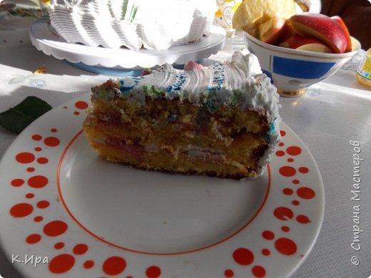 Всем -  здравствуйте!   Предлагаю, кому интересно, рецепт бисквитного торта, оформленного белковым кремом.  фото 2