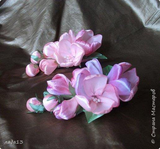 как говорят найдите отличие-розовая моя новая заколка.По моему похожа с настоящими цветами яблоньки. фото 4