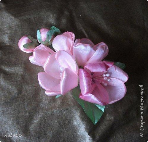 как говорят найдите отличие-розовая моя новая заколка.По моему похожа с настоящими цветами яблоньки. фото 2