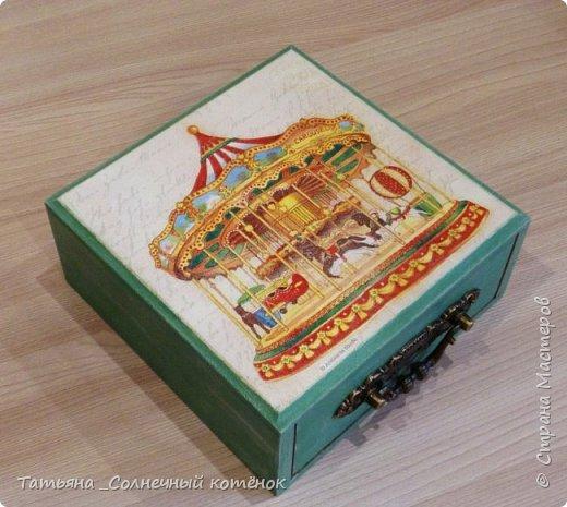 Шкатулка с выдвижным ящиком фото 1