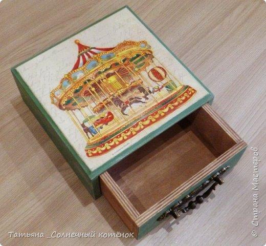 Шкатулка с выдвижным ящиком фото 2