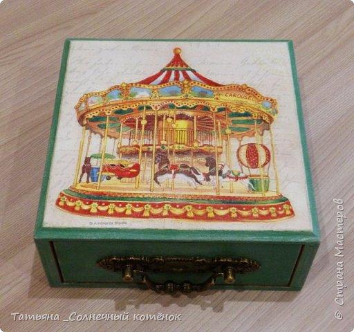 Шкатулка с выдвижным ящиком фото 3
