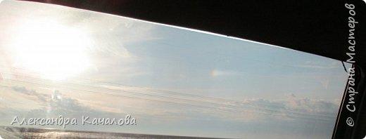 Вот такой эффект солнца нам пришлось наблюдать из машигы в начале апреля.  Окно тонированное, хорошо видно. Без тонировки эффект слабо заметен. фото 1