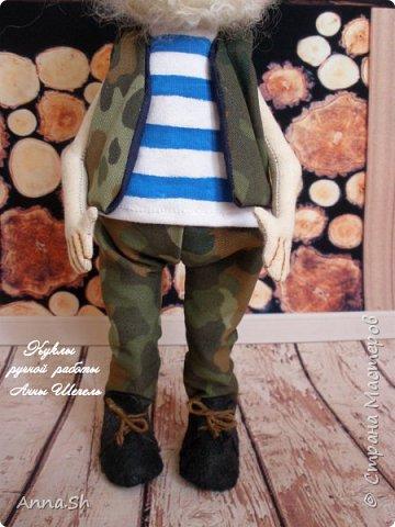 """Интерьерная кукла """"Дедушка военный, красивый здоровенный"""" фото 2"""