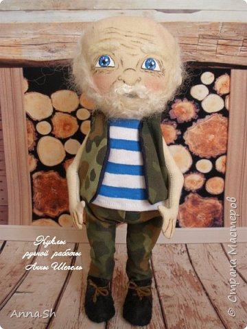 """Интерьерная кукла """"Дедушка военный, красивый здоровенный"""" фото 1"""