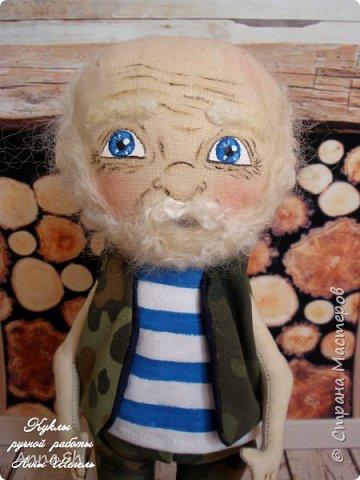 """Интерьерная кукла """"Дедушка военный, красивый здоровенный"""" фото 6"""