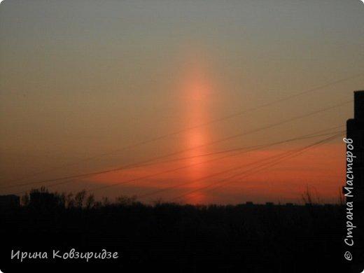 Пару недель назад увидела интересное явление на закате. фото 5