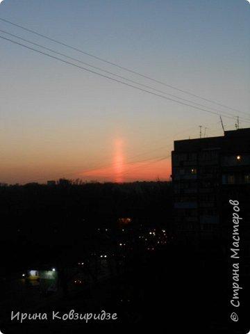 Пару недель назад увидела интересное явление на закате. фото 8