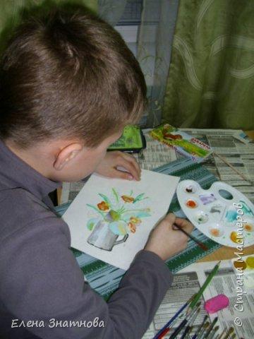 Весенний пейзаж. От собственых впечатлений к природе - рисунки все такие разные, яркие или приглушёные.Дети выражают свои эмоции в красках. фото 18