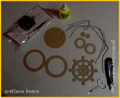 Многофункциональный предмет интерьера в морском стиле (светильник, часы, шкатулка) «Чёрная жемчужина», в технике пейп-арт. фото 2